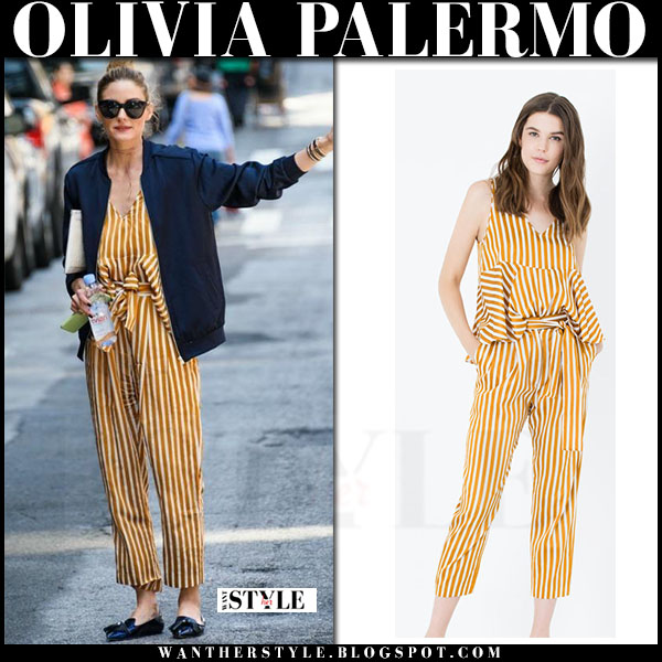 olivia-palermo-in-yellow-stripe-top-and-yellow-stripe-pants-in-new-york-june-2-2016-what-she-wore