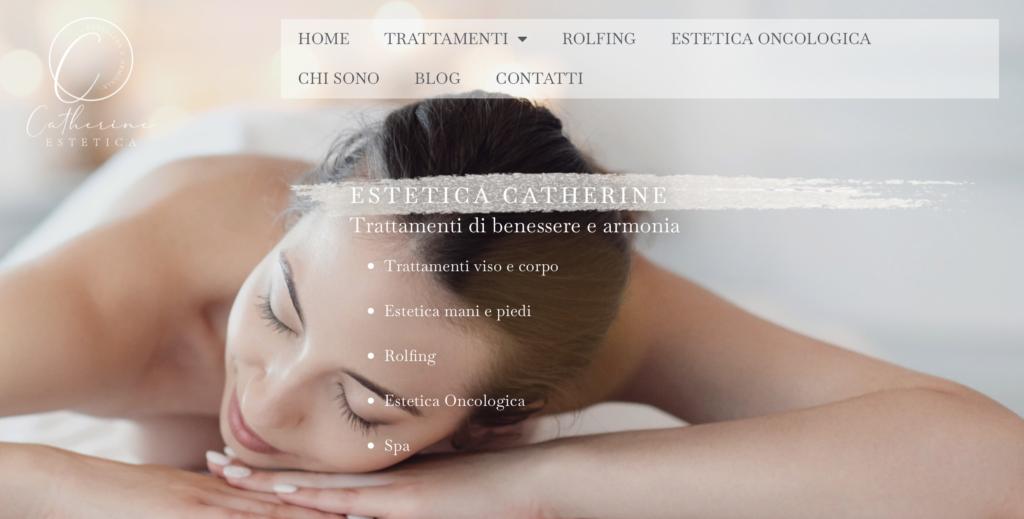 home page sito web Estetica Catherine a Bologna